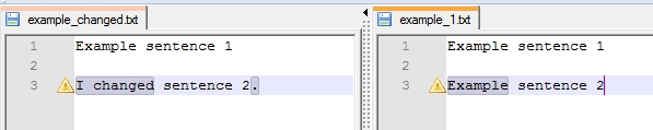 File comparison in Notepad++