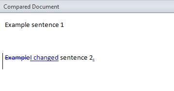File comparison in Word 2010