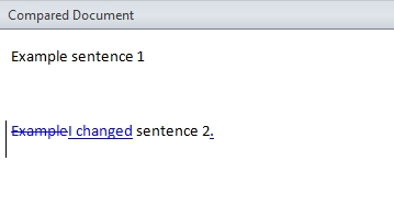 File comparison in Word 2010