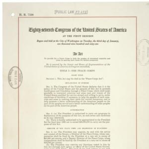 Peace Corps Act